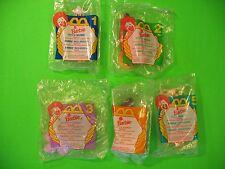 1996 McDonalds - Barbie set of 5+U3 *MIP*