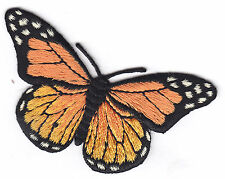 MONARCH BUTTERFLY- BUTTERFLIES - Iron On Embroidered Applique Patch