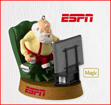 2010 Hallmark ESPN Ornament SPORTS FAN SANTA  SportsCenter Theme BIG SCREEN TV