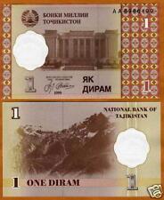 Tajikistan, 1 Diram, 1999, Ex-USSR, P-10, UNC