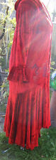 Ultimate VTG Blue Fish Velvet Christmas Outfit Zaki Coat Nethus Dress Leggings