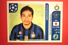 PANINI CHAMPIONS LEAGUE 2011/12 N 80 NAGATOMO INTER WITH BLACK BACK MINT!!