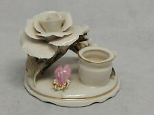 Lucru Manual Romania Porcelain Rose Candlestick