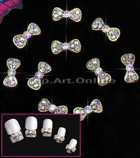 Lot De 10 Nail Art Décorations Bricolage Bijoux D'ongle Nœud à Papillon Décor