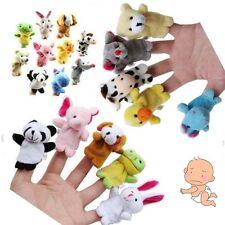 Lot 10 Mini-marionnette à Doigt Peluche 10 Animaux Ferme Jouet Maternelle Poupée