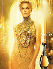 "PUBLICITE ADVERTISING 035 2011 CHRISTIAN DIOR parfum ""J'ADORE"" CHARLIZE THERON"