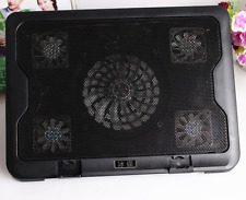 USB Cooler Cooling Pad Stand w/  & 5 Fans for Laptop PC Netbook 10-16` light