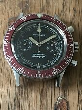 vintage Wittnauer 7004a Chronograph watch, unpolished.
