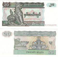 Myanmar Burma 20 Kyats 1994 P-72 NEUF UNC Uncirculated Banknote
