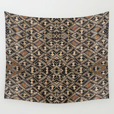 WALL TAPESTRY 51x60 ~ EXCLUSIVE AFRICAN KUBA RAFFIA CLOTH DESIGN #2