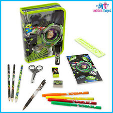 Disney Toy Story Buzz Zip Up Stationery Kit Pencil Case scissors ruler markers