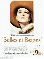 PUBLICITE ADVERTISING 126  1964  maquillage  Revlon  Belles & Beiges