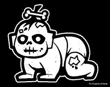 """Zombie Baby Toddler Kid Family Car Decal Sticker   """"The Walking Dead"""""""