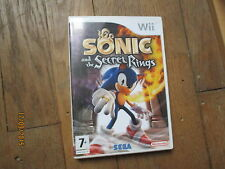 JEU VIDEO NINTENDO WII SONIC AND THE SECRET RINGS  boite notice