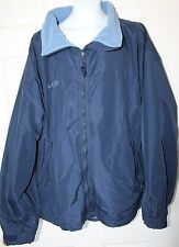 COLUMBIA MENS XL WARM COAT JACKET NAVY BLUE Nylon FLEECE LINING