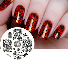 BORN PRETTY #19 Leaves Theme Nail Art Stamp Stamping Template Image Plate