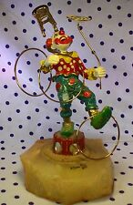 1980 Ron Lee Clown Figurine BALANCING ACT Signed Sculpture Statue #244 Onyx Base