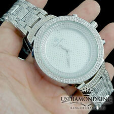 MEN'S LADIES NEW WHITE GOLD FINISH ICED OUT METAL WRIST HIP HOP DESIGNER WATCH