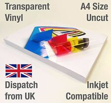 Transparent VINYL INKJET Print Glossy Self Adhesive Sticker Decals Event Wedding