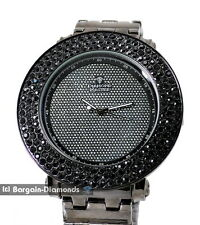 mens big gunmetal black clubbing CZ watch heavy gunmetal bracelet master
