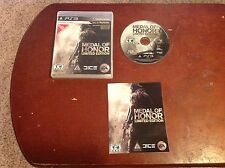 Playstation 3 Medal of Honor Limited Edition Game Used Book/Case Included