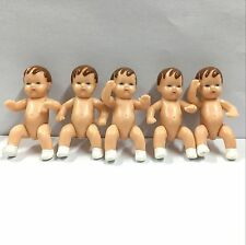 "5pcs  Miniature baby doll Shackman 3""  Rubber Baby Doll House Figure toy"