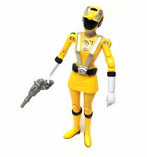 "Power Rangers RPM YELLOW Female Ranger 5"" toy figure with weapon"
