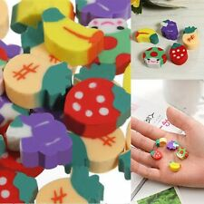 50PCS Novelty Mini Fruit Rubber Pencil Eraser Set Stationery Kids Children GifMO