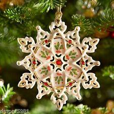 Lenox 40th Anniversary Holiday pattern SNOWFLAKE Christmas Ornament NIB 2014