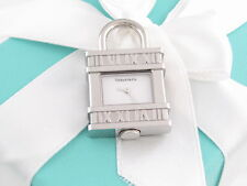 New Tiffany & Co Atlas Watch Padlock Charm 4 Necklace Bracelet Box Pouch Card
