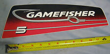 OEM Sears Gamefisher 5 HP Outboard Boat Motor Cowl Starboard Decal 37-826341-9