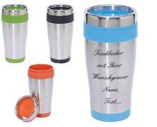 Trinkbecher-Thermobecher in 4 Farben zur Auswahl inkl. Wunschgravur