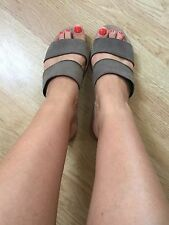 Pull & Bear Leather Sandals Used Worn Size 4