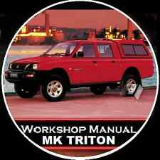 MITSUBISHI TRITON MK series 2WD-4WD Workshop Repair  Manual CD