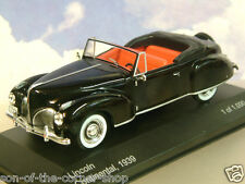 SUPERB WHITEBOX MODELS DIECAST 1/43 1939 LINCOLN CONTINENTAL OPEN IN BLACK WB117