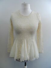 DARIMEYA CREAM LACE TOP SIZE SMALL / MEDIUM BRAND NEW R.R.P £55 BOX8235 L