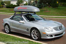 Genuine OEM Mercedes-Benz R230 Alustyle roof carrier bars and 726 retrofit kit