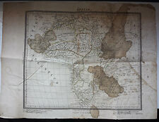 PABLO ALABERN - ULTRA RARE SPANISH AFRICA ENGRAVING MAPP / BARCELONA 1935