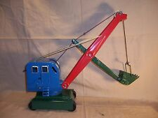 Rare Vintage Steam Shovel Crane Pressed Steel Toy Private Label ? Excivator
