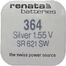 Renata Watch BatteriesX2 Swiss Made Cell Button Sil-Oxide 1.55v-364 SR621SW AG-1