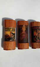 (3) Vintage Easy Rider Sexy Babes Bic Lighter Holder Cases Tiki Bamboo Harley