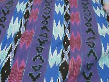 Great purple tones southwest western native fabric material sewing cowboy west