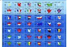 Kuwait 1991 ** Mi.1242/83 Bogen Flaggen Flags Map Karte