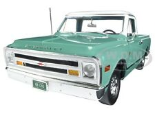 1968 CHEVROLET C-10 CUSTOM PICKUP TRUCK LIGHT GREEN/WHITE LTD 1/18 ACME A1807201