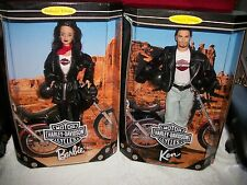 1998 NEW HARLEY DAVIDSON Barbie and Ken Dolls (BOTH SOLD TOGETHER)