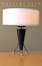 RARE MID CENTURY MODERN ATOMIC ROCKET LAMP! Eames 50s Vtg Tripod Table 60s Black