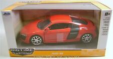 AUDI R8 RED WITH CHROME WHEELS 1:32 DIECAST JADA BIGTIME KUSTOMS VERY RARE