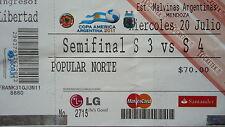 TICKET Copa America 20.7.2011 Paraguay - Venezuela in Mendoza