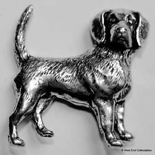 Beagle Foxhound Pewter Pin Brooch - British Hand Crafted - Fox Hunting Hound Dog