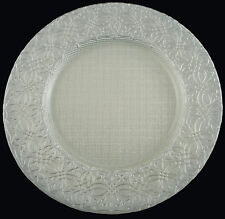 "Glass Charger Plate 13"" White Mystery - Set of 2"